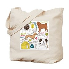 Dogs Colored P Tote Bag