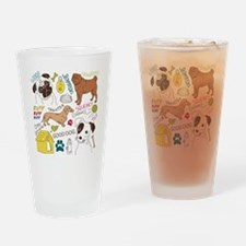 Dogs Colored P Drinking Glass