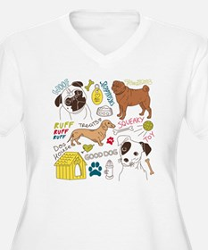 Dogs Colored P T-Shirt