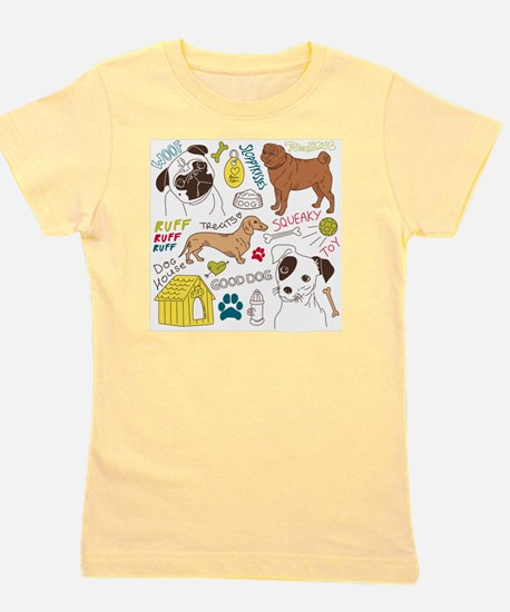 Dogs Colored P Girl's Tee