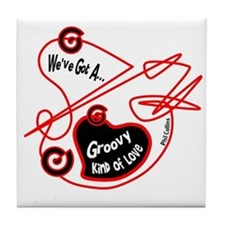 Groovy Love-Phil Collins/t-shirt Tile Coaster