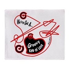 Groovy Love-Phil Collins/t-shirt Throw Blanket