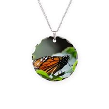 Monarch Butterfly 4 Square Necklace