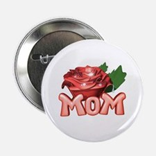 Mom with Rose Button