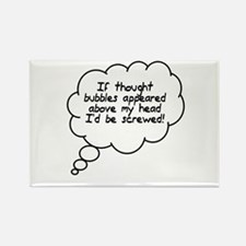 Thought Bubbles Rectangle Magnet