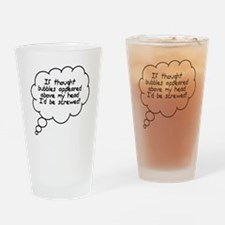 Thought Bubbles Drinking Glass