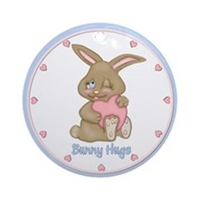 Bunny Hugs Ornament (Round)
