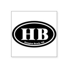 Hampton Beach HB Euro Oval Oval Sticker