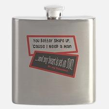 I Need A Man-Grease Song Lyric/t-shirt Flask