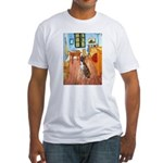 Room with a Boxer Fitted T-Shirt