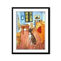 Room with a Boxer Framed Panel Print