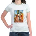 Room with a Boxer Jr. Ringer T-Shirt