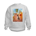 Room with a Boxer Kids Sweatshirt