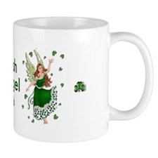 Irish Shamrock Angel Mug