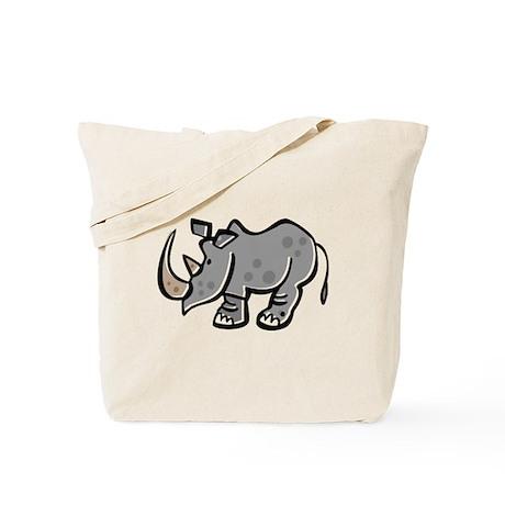 Cool Cartoon Rhinoceros Tote Bag