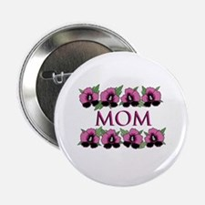 Mom Flowers Button