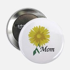 Mom Yellow Flower Button