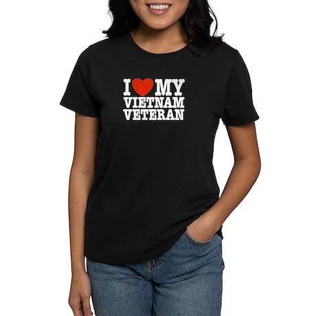 I Love My Vietnam Veteran Women's Dark T-Shirt