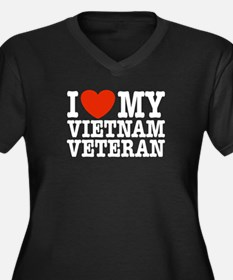 I Love My Vietnam Veteran Women's Plus Size V-Neck