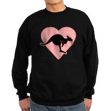 Kangaroo Love Pink Heart Sweater