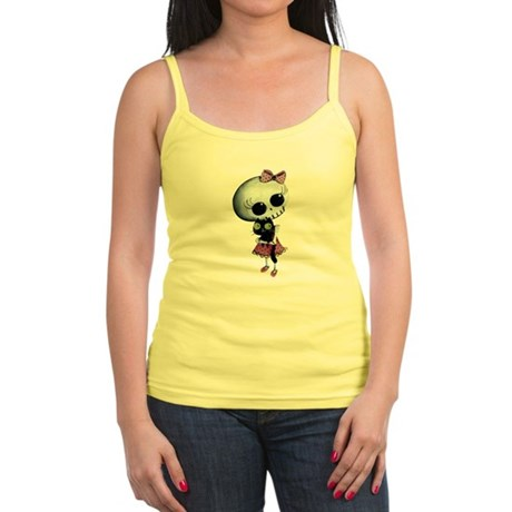 Little Miss Death with black cat Tank Top