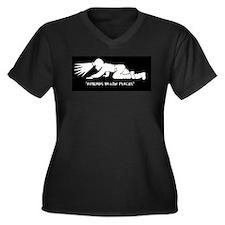 Coal Miner Women's Plus Size V-Neck Dark T-Shirt