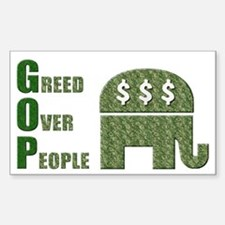 Greed Over People Vinyl Decal