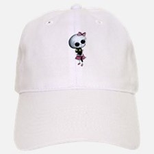 Little Miss Death with black cat Baseball Baseball Baseball Cap