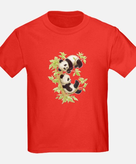 Pandas Playing In A Tree T