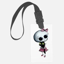 Little Miss Death With Black Cat Luggage Tag