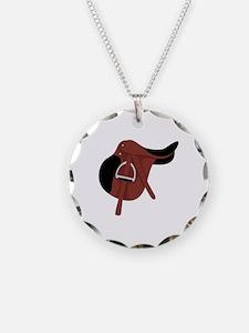 English Hunter Horseback Riding Saddle Necklace