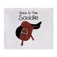 Back In The Saddle Throw Blanket