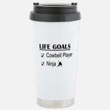 Cowbell Player Ninja Li Travel Mug