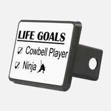 Cowbell Player Ninja Life Hitch Cover