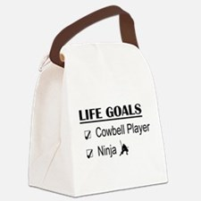 Cowbell Player Ninja Life Goals Canvas Lunch Bag