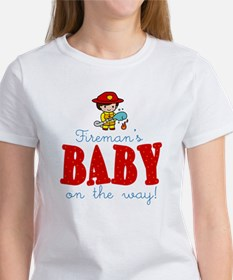 Firemans Baby on Way T-Shirt