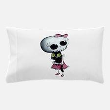 Little Miss Death With Black Cat Pillow Case