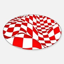 Checkers Red N White Decal