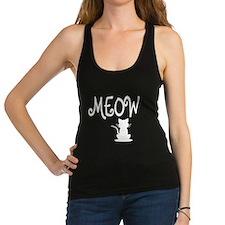 Meow Cat: Racerback Tank Top
