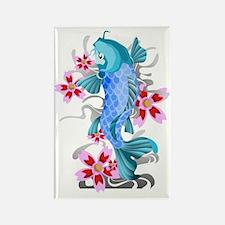 Blue Koi Fish Rectangle Magnet