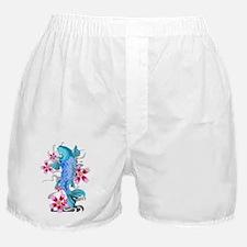 Blue Koi Fish Boxer Shorts
