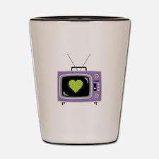 Pixel Heart Television Shot Glass