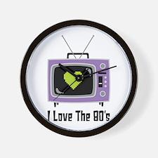 I Love The 80s Wall Clock
