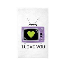 I Love You 3'x5' Area Rug