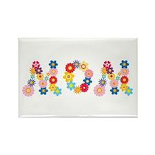 Flower Mom Rectangle Magnet