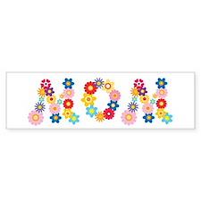 Flower Mom Bumper Bumper Sticker