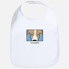 Anime Brindle Greyhound Bib