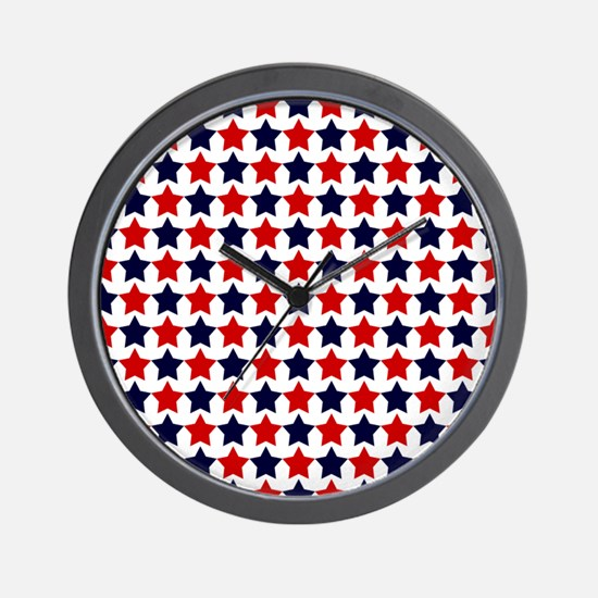 Patriot Stars Wall Clock