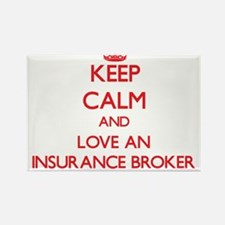 Keep Calm and Love an Insurance Broker Magnets