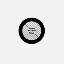 Customizable Black Mini Button